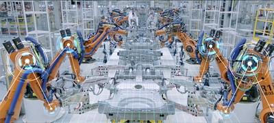 Robots inteligentes para fabricar automóviles de alta calidad (PRNewsfoto/GAC MOTOR)